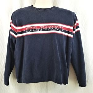 Tommy Hilfiger Spell Out Pullover Cotton Sweater